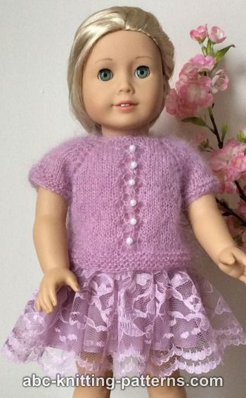 Abc Knitting Patterns American Girl Doll Tuileries Garden Sweater