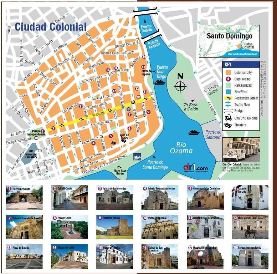 Visita la ZonaColonial de SantoDomingo ciudad privada de Amrica