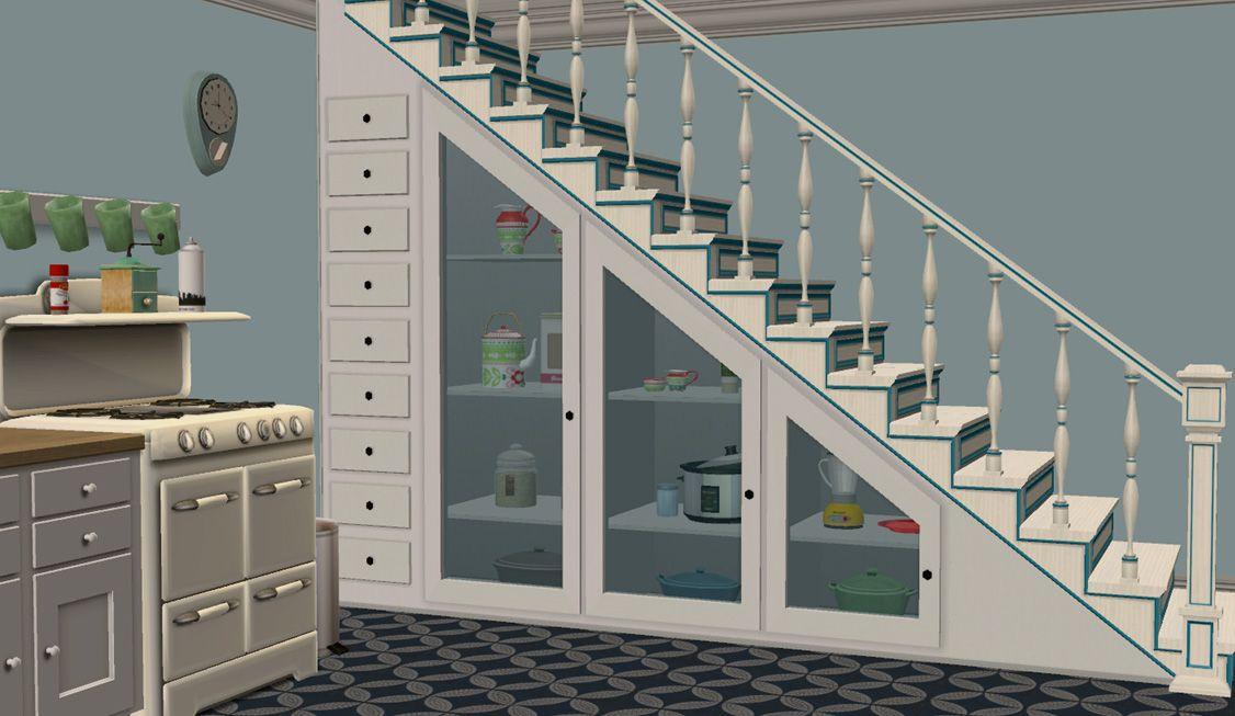 Mod The Sims Under Stairs Storage, How To Build Basement Stairs Sims 4