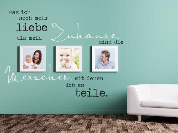 Wandtattoos mit Bilderrahmen kombiniert - wandtattoo schlafzimmer sprüche