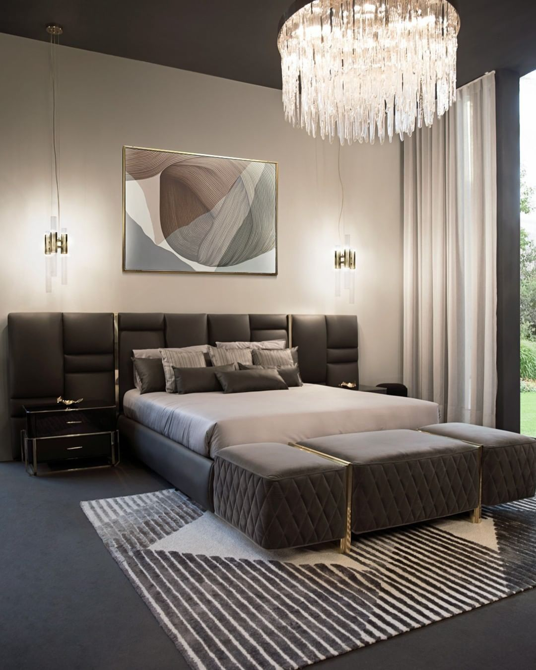 Luxus Schlaf Zimmer Mit Grossem Bett Luxury Bedroom Decor Master