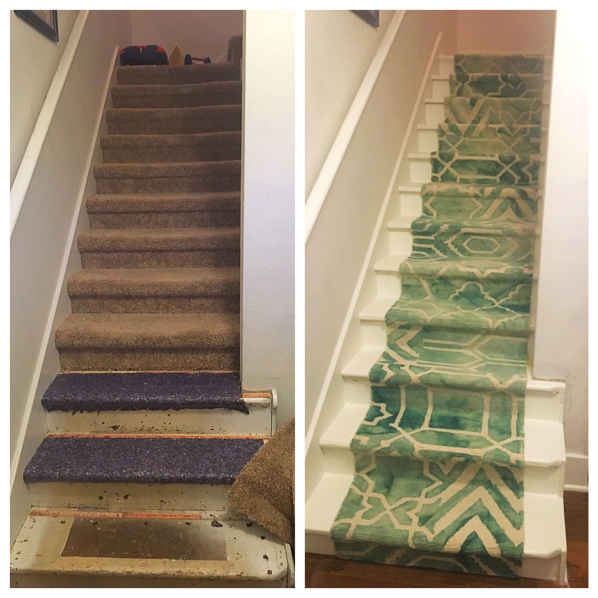 DIY stair project Rip up carpet, take out a million