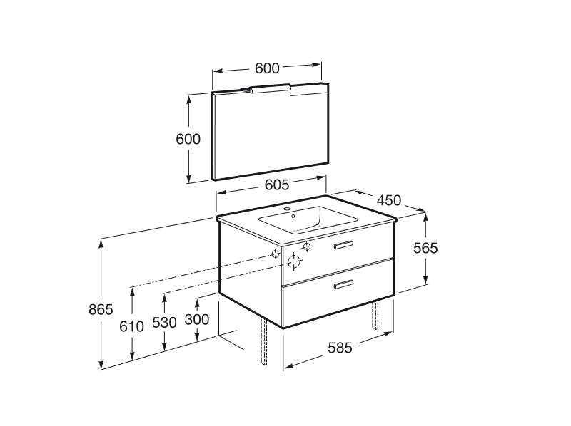 Resultado de imagen para medidas de un lavamanos en metros for Altura de lavabo