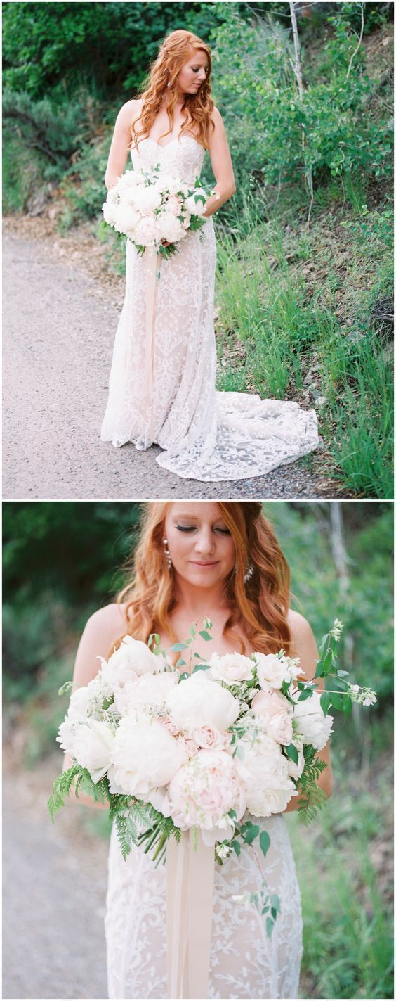 Strapless country wedding dresses simple lace beach wedding dress in