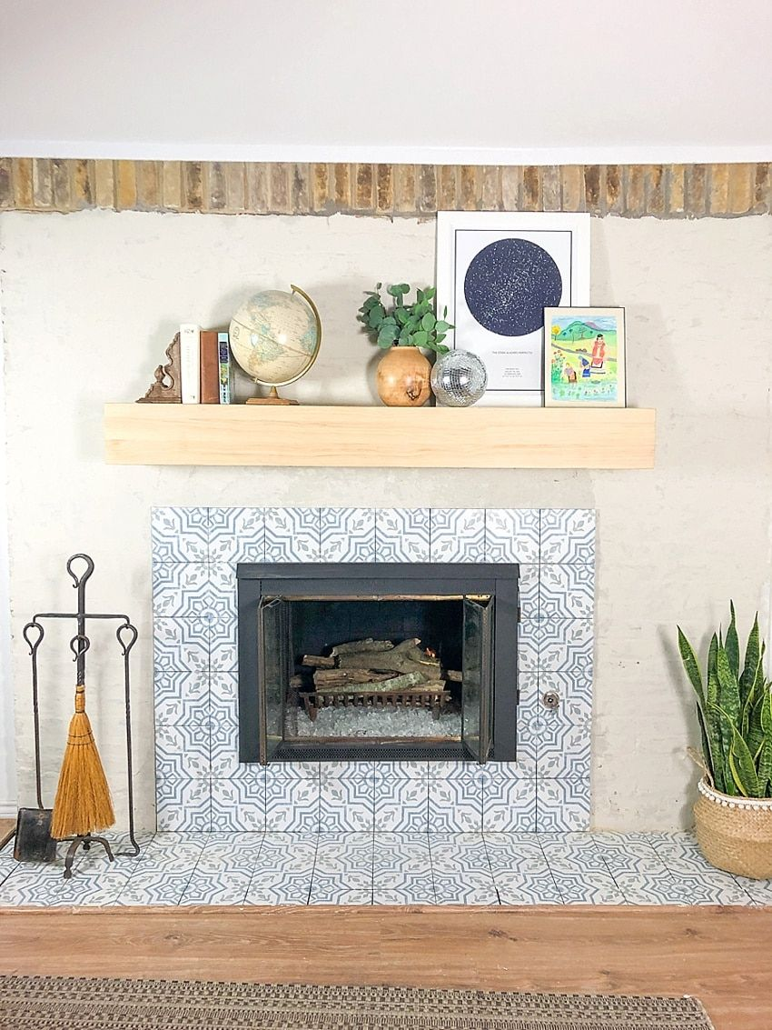 DIY Fireplace Makeover with Plaster With Video