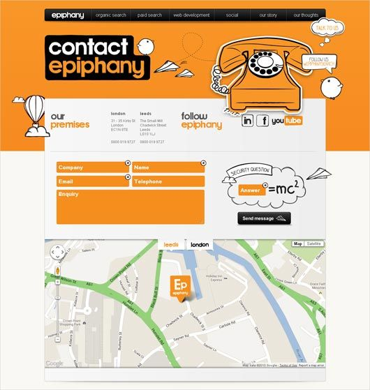 20 Eye-catching Contact Pages with Location Maps