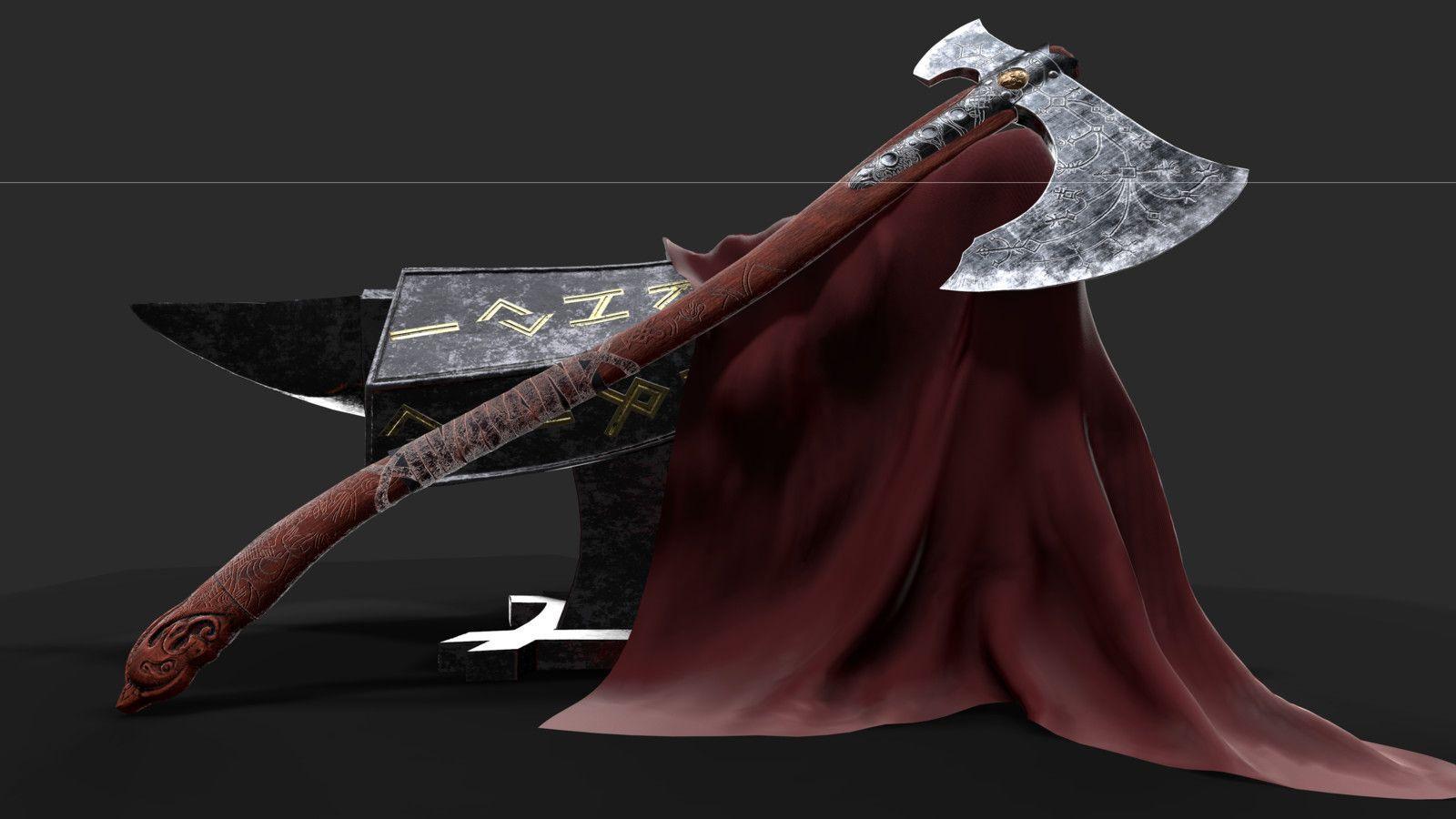 Leviathan Axe God Of War 4 Ninb Adam In 2021 Leviathan Axe God Of War God Of War 4
