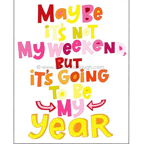 New Year Music Quotes: The Year Of Me By Whimsystudios On Etsy, $14.00