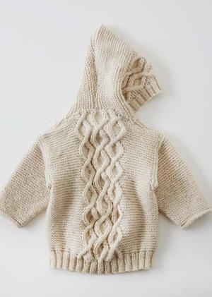 Photo of Cabled Baby Cardigan Sweater