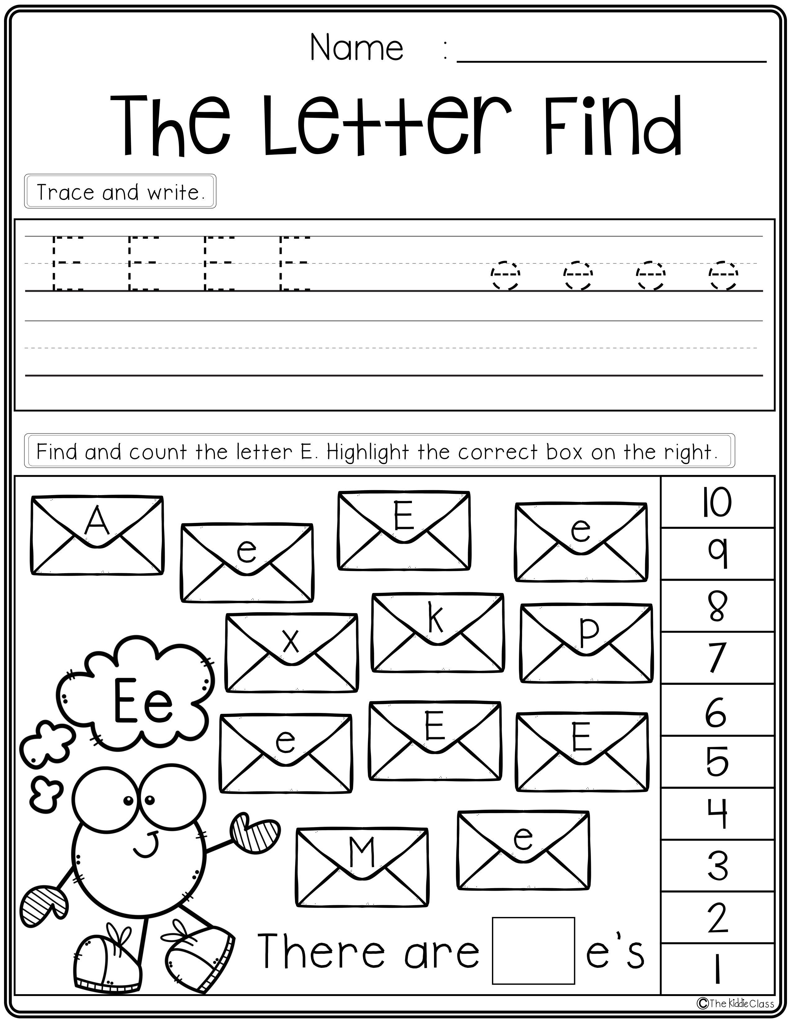 Free Alphabet Letter Find