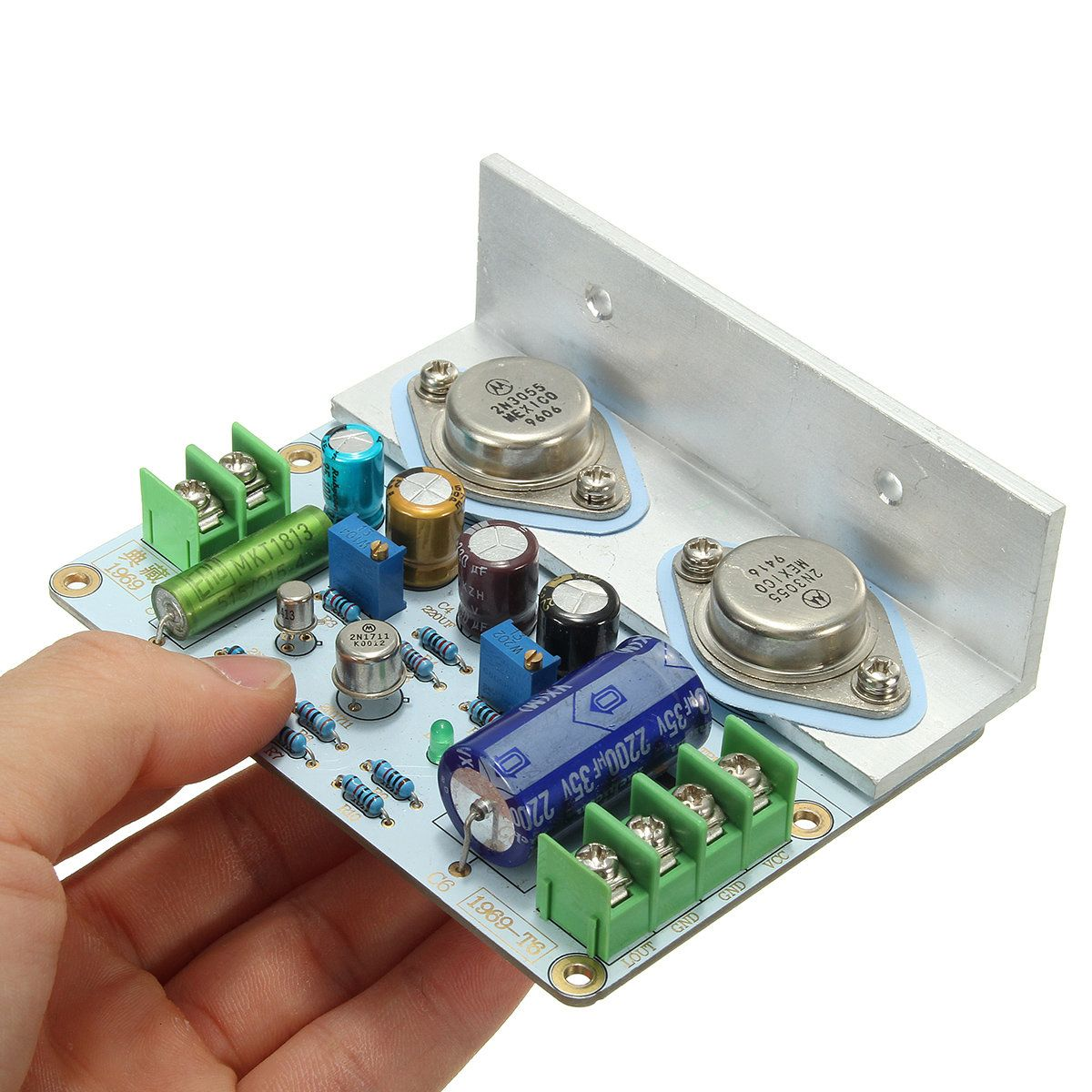 10 15w Jlh1969 Class A Amplifier Amp Board Left Channel Pcb Mosfet By 2sk1058 Assembled Mot 2n3055 Sale Banggood Mobile