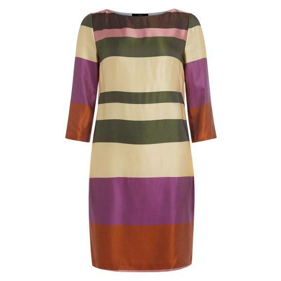 Kleid, klassisch, gestreift, elegant Vorderansicht