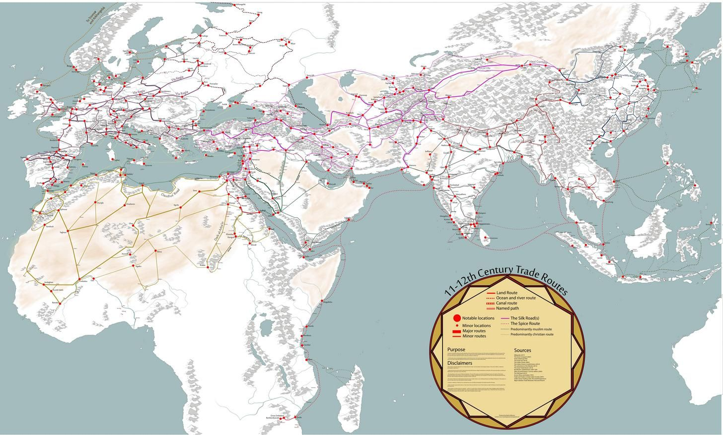 Medieval Trade Routes And Geography Historical Maps Fantasy Map
