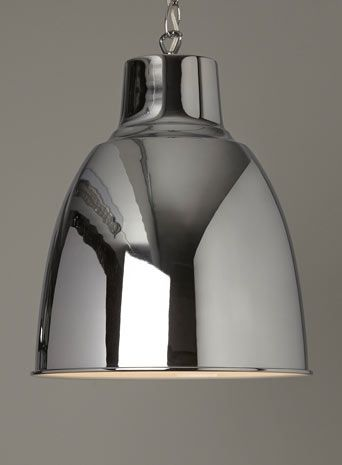 Beth pendant chrome reduced from £60 to £20 for kitchen