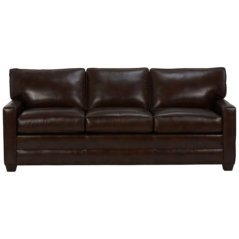 Bennett Three Cushion Track Arm Leather Sofas From 2 379 00 2 549 00 Nice Furniture