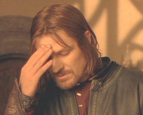 Frustrated Boromir Blank Meme Template  Nerds Of A Certain