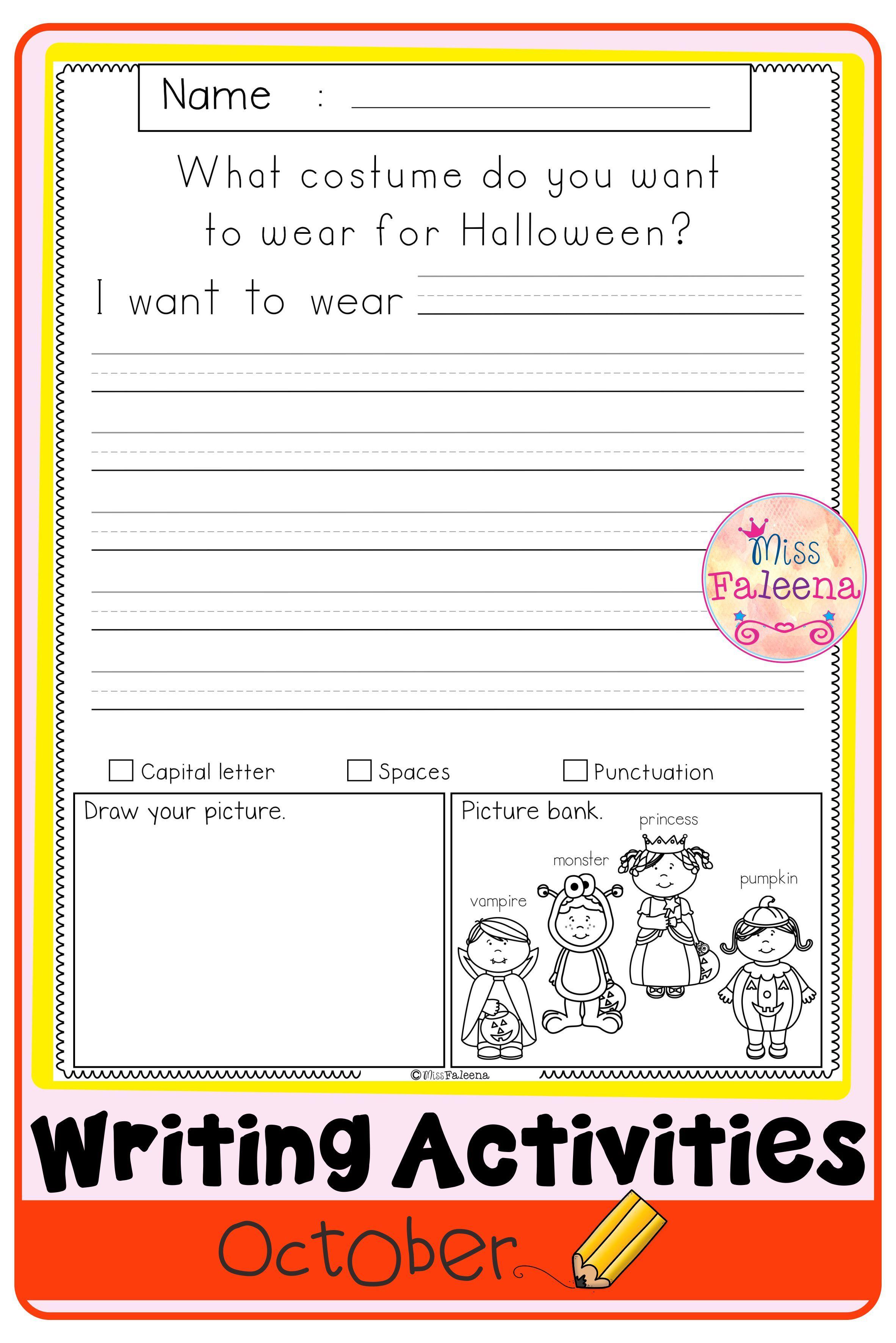 October Writing Activities Di