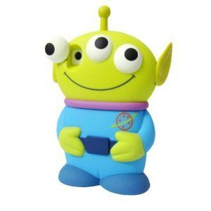 Disney 3D 3 Eyes Toy Story Alien Movable Eye Hard Case Protector Shield Cover Iphone 4/4S Gift -Blue | I OWL YOU via iowlu.com
