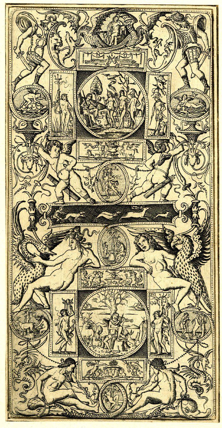 Nicoletto da Modena  (nacido en Módena a finales del siglo XV) / artista italiano do Renascimento / obra: Representação de Paris e Orfeu