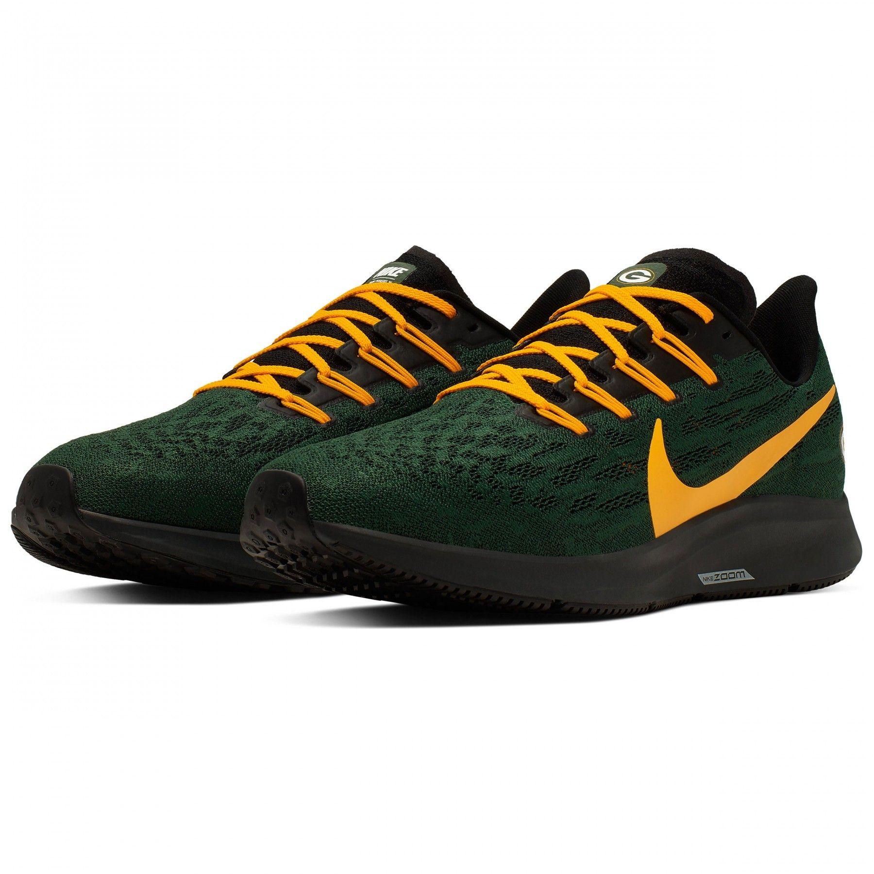 Packers Nike Air Zoom Pegasus 36 Shoe Green Bay Packers Shoes Nike Air Zoom Pegasus Nike Air Zoom