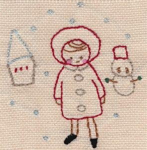 Hand Stitched Christmas Cards - Pattern from Issue 8 Mollie Makes x