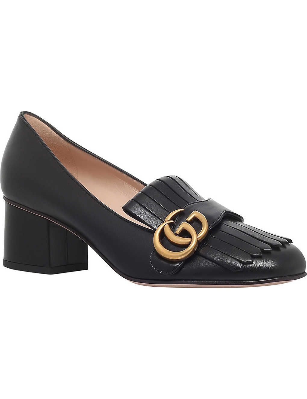 GUCCI Marmont 55 leather mid-heel