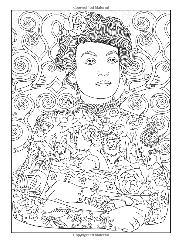 Artists Colouring Book Art Nouveau : Body art: tattoo designs coloring book dover publications adult