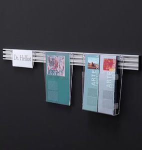 Wall Mounted Brochure Display Rack Desk Up By Acropoli