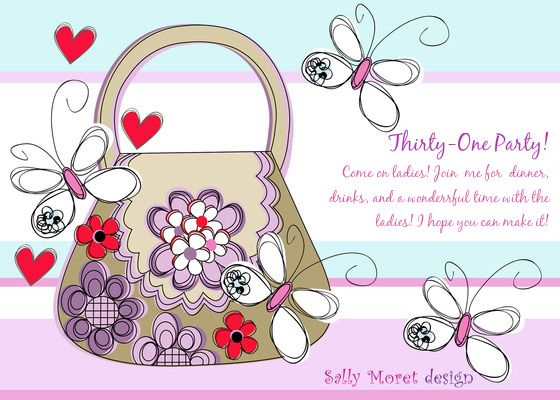 17 best images about 31 – Handbag Party Invitations