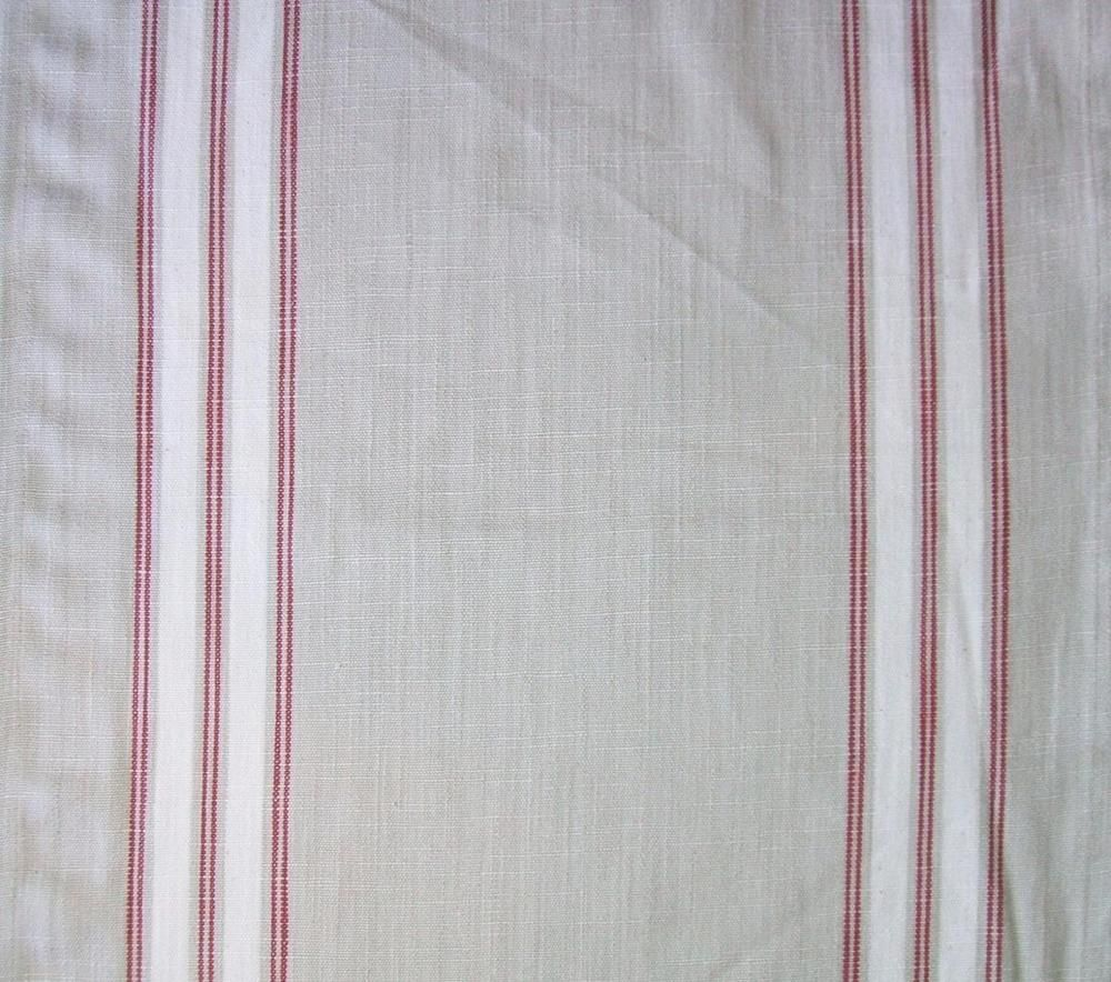 "Moda 16"" Panier De Fleur Flax Stripe Woven Toweling Tablerunner Hemmed Fabric #Moda"