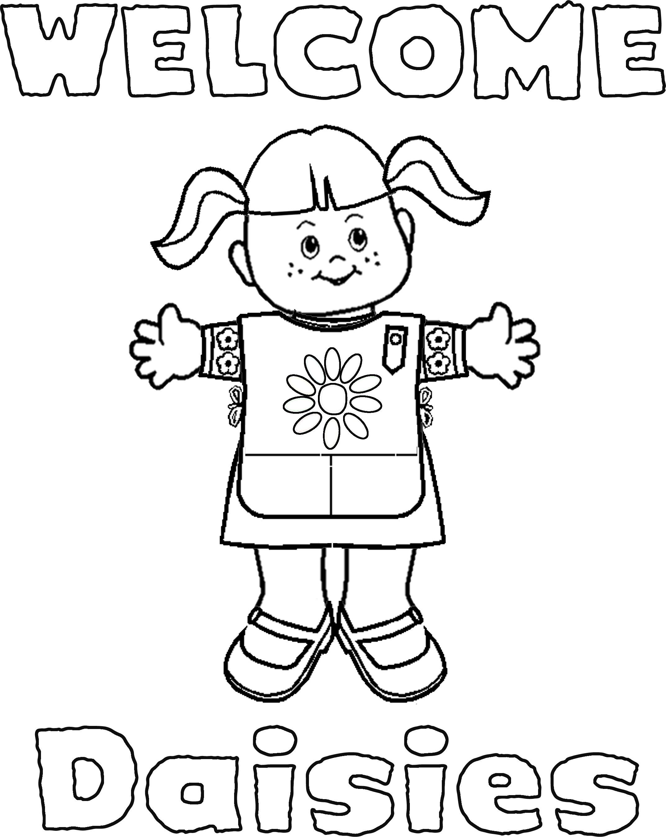 coloring pages for daisy scouts girl scout coloring page super coloring welcome signs for daisies