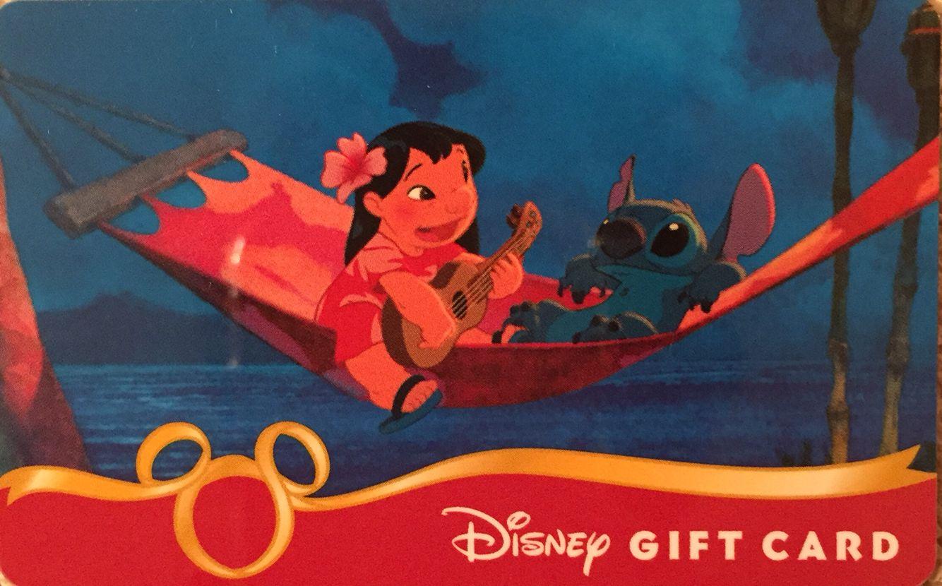 Disney lilo and stitch gift card disney gift card
