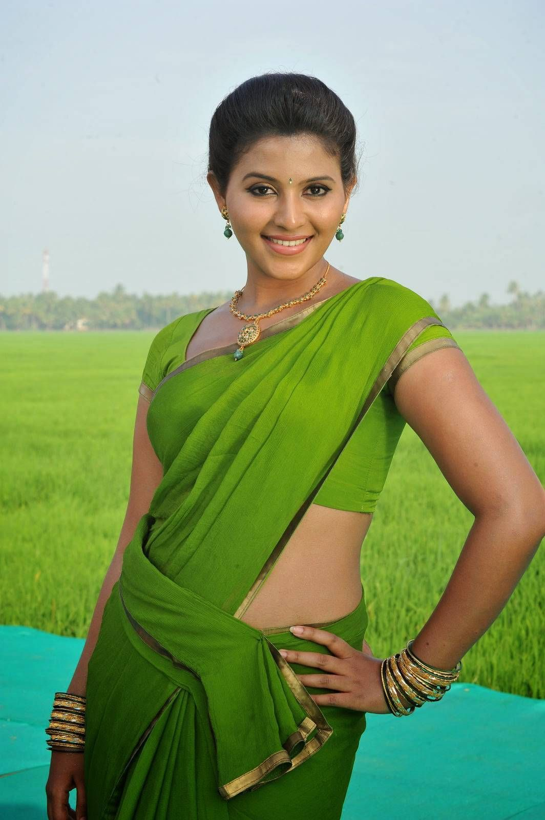 Anjali Latest 2016 Photos In Spicy Green Saree | Sareee beauty ...