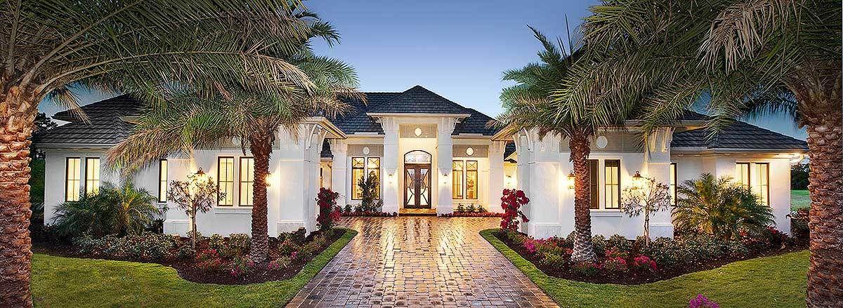 Plan 66359we Super Luxurious Mediterranean House Plan Mediterranean House Plan Mediterranean Style House Plans Mediterranean Homes