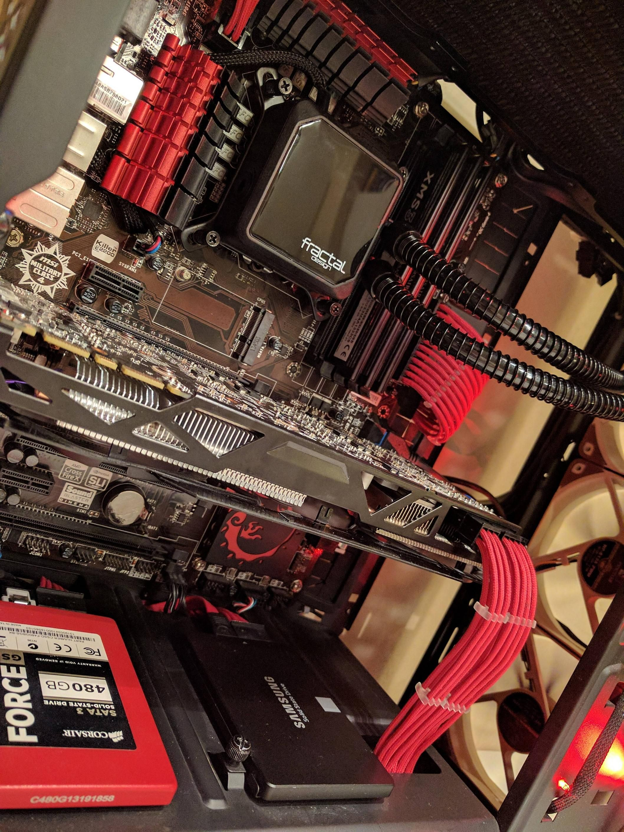 Red Black Cable Management Cable Management Cable Management