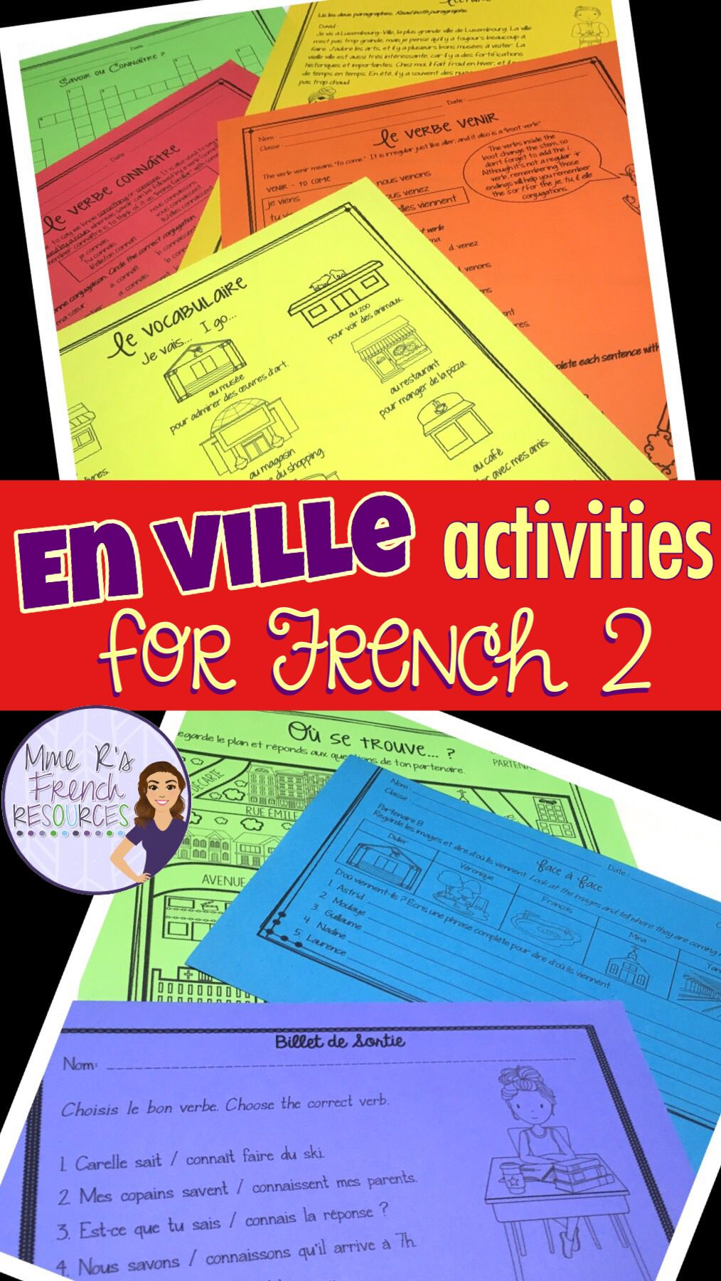 These Speaking And Writing Activities For French Places Vocabulary Are Full Of Fun Exercises Assessments Gam Learn French Writing Activities French Resources [ 1800 x 1014 Pixel ]