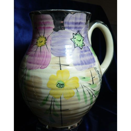 Vintage Arthur Wood Jug Hand Painted Floral Pattern With Gilding
