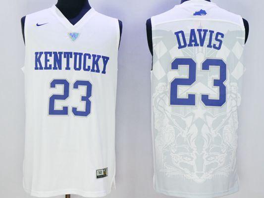 0e515f4fe Jerseys For Cheap Wholesale NCAA Kentucky Wildcats  23 Anthony Davis White  Basketball Jersey NCAA