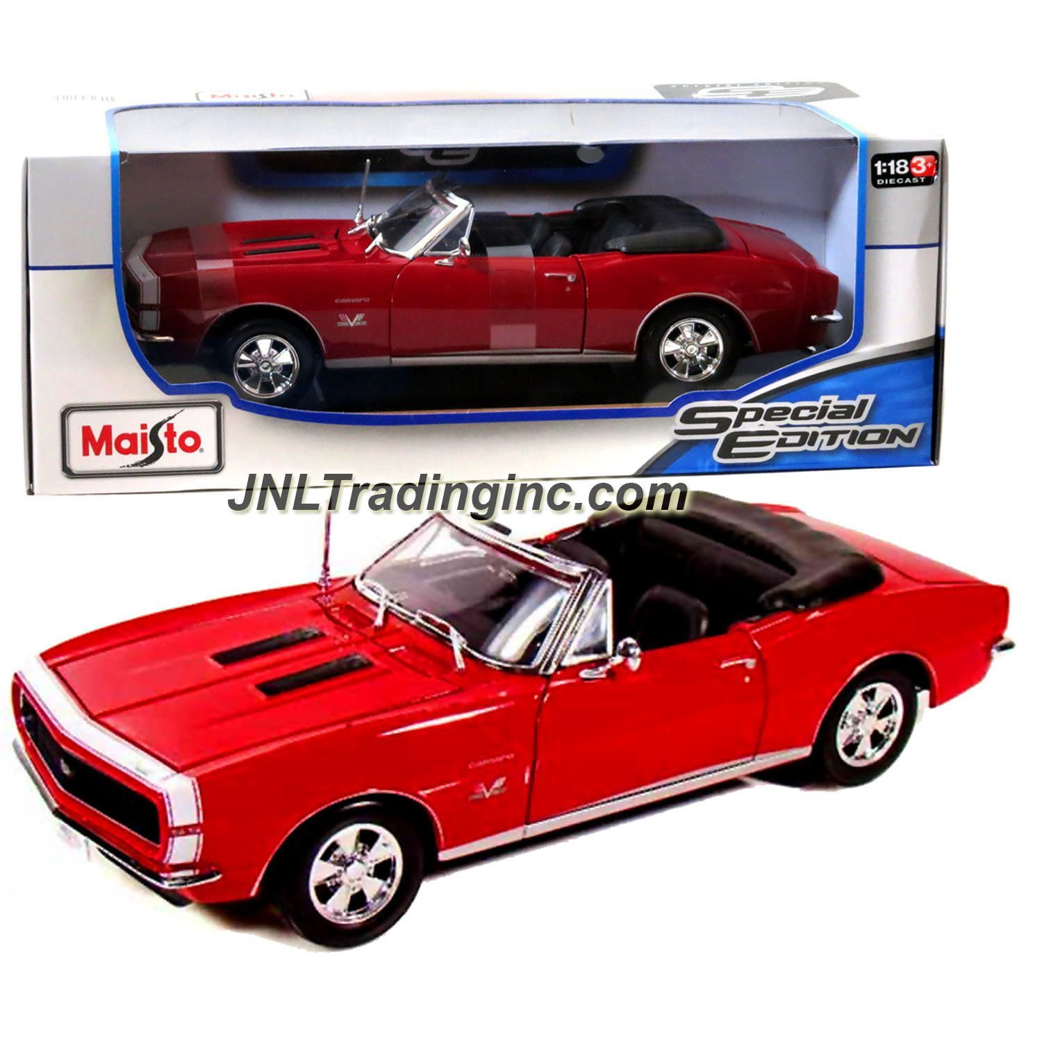 Maisto special edition series 1 18 scale die cast car red classic roadster 1967