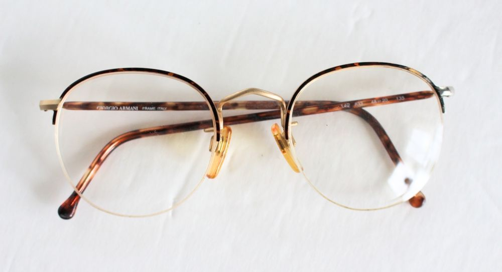 ed56ea60dd1 GIORGIO ARMANI Glasses Frames 142 833 Tortoise Shell Made In Italy Half Rims   GiorgioArmani