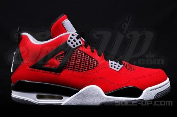 designer fashion 5c310 6f0de ... spain air jordan 4 retro fire red nubuck detailed pictures b5211 98e94