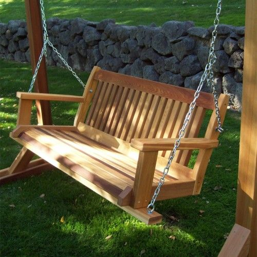 wood country cabbage hill red cedar porch swing swings porch furniture porch swing garden. Black Bedroom Furniture Sets. Home Design Ideas