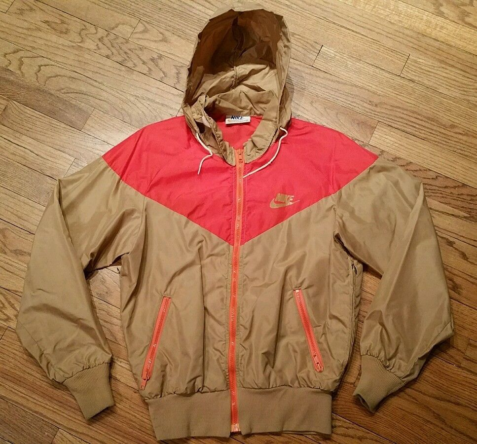 6d64625f14 Vintage Nike Windbreaker Jacket Lightweight Nylon hooded Men s Medium  Orange Tag  Nike  Windbreaker