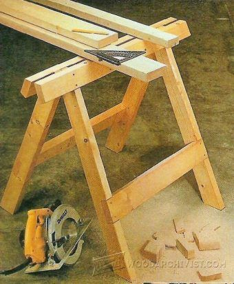 Folding Sawhorse Plans Workshop Solutions Plans Tips