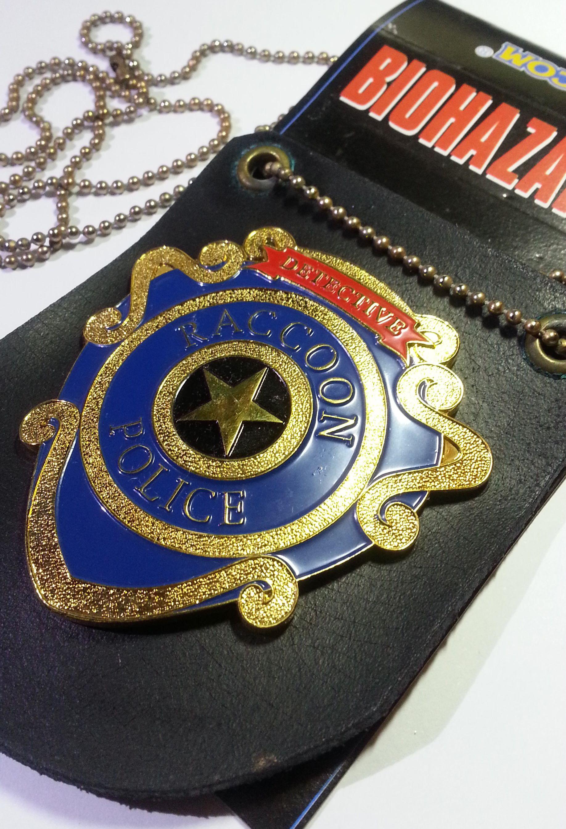 Biohazard 3 Raccoon Police Detective Metal Badge Hong Kong Comic Capcom Resident Evil Capcom Resident Evil Resident Evil Nemesis
