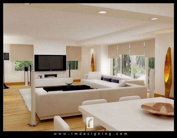 Drawing Entertainment/Living Room Decor - very sleek and clean ...