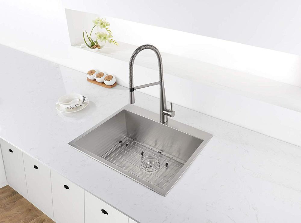 Ruvati Rvh8010 Overmount 16 Gauge 25 Kitchen Sink Single Bowl Stainless Steel Amazon Com Drop In Kitchen Sink Best Kitchen Sinks Sink Design