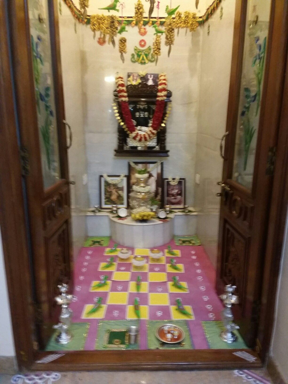 Oora hubba special decoration for pooja room