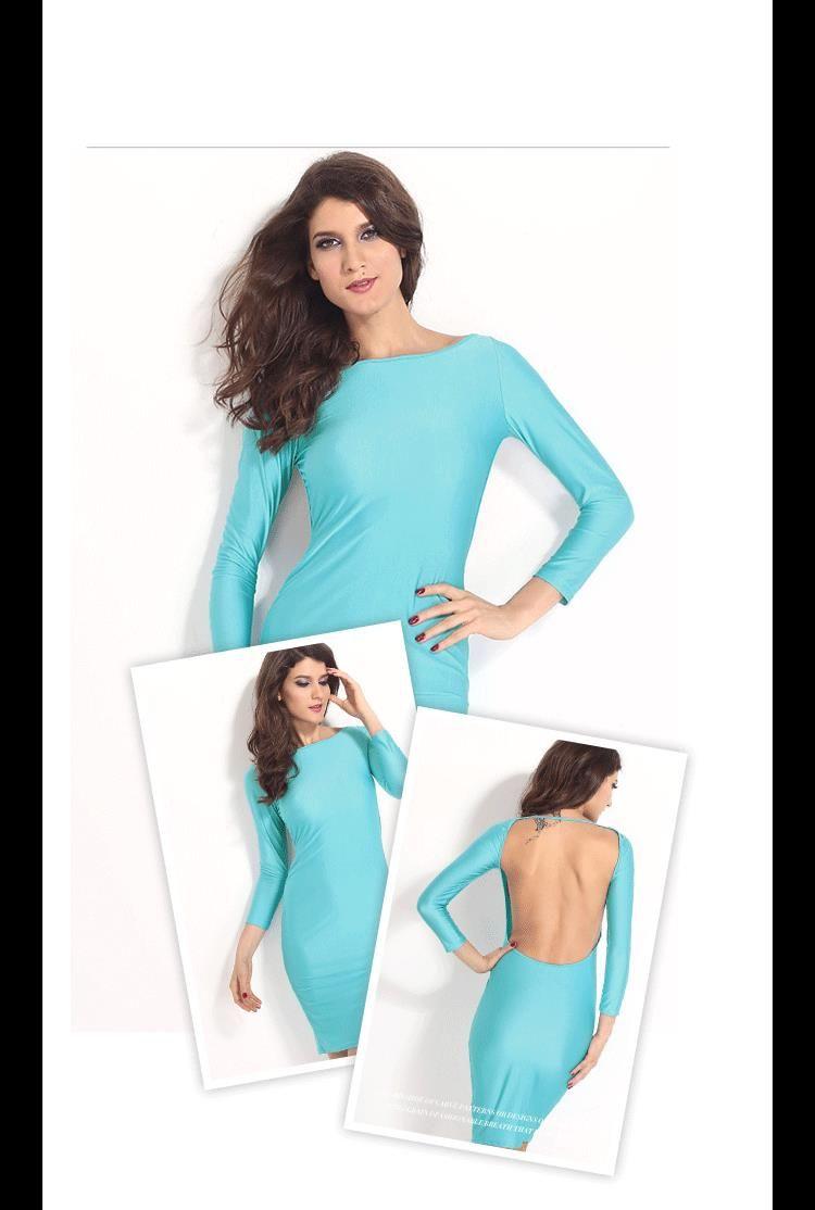Aliexpress.com : Buy 2015 Autumn Winter Sexy Midi Dress Low Back ...