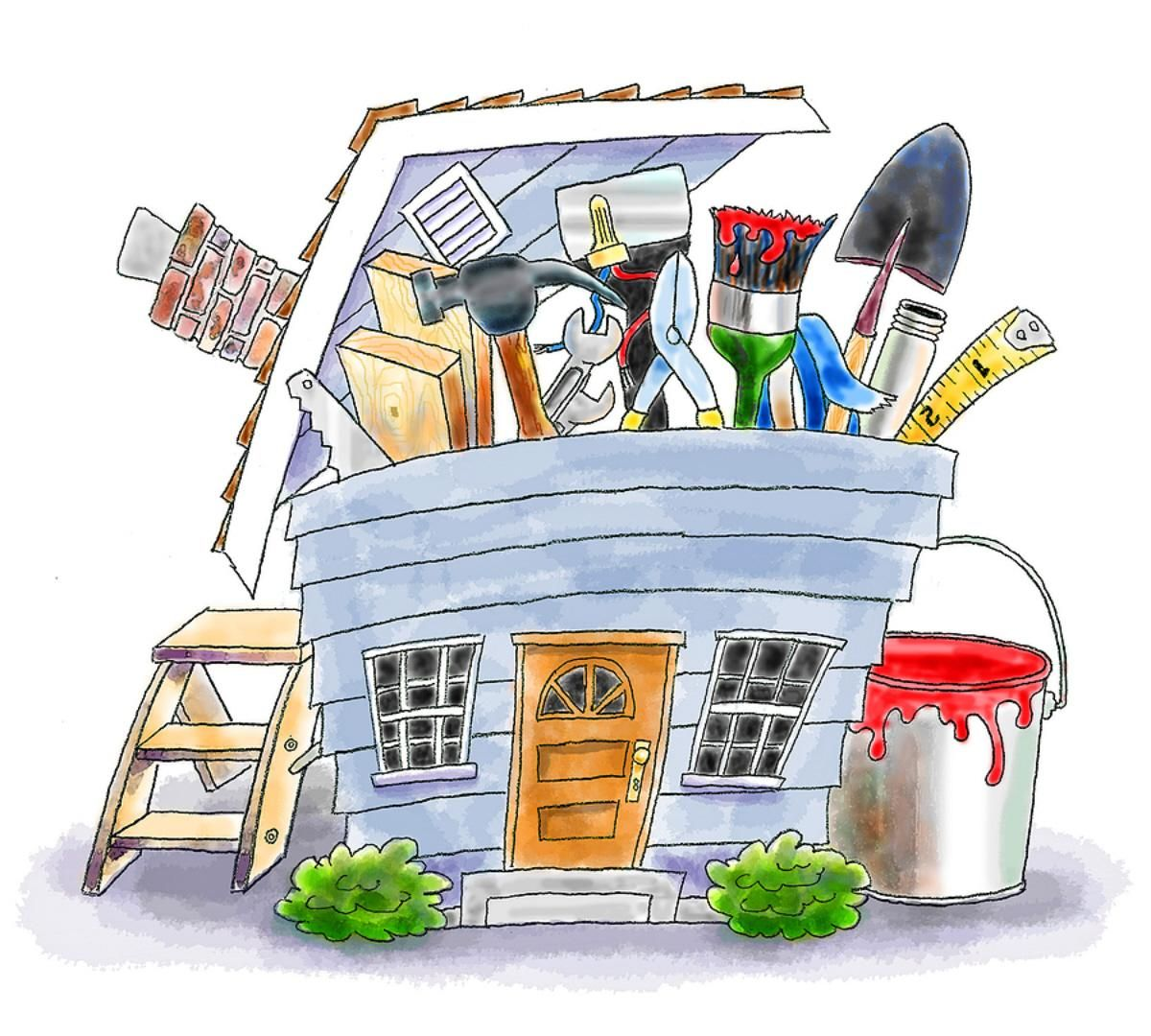Home Improvement Clip Art Cartoon